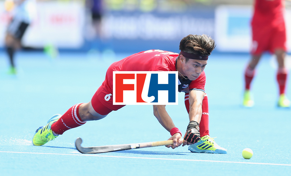 LONDON, ENGLAND - JUNE 15:  Jihun Yang of Korea during the Hero Hockey World League Semi Final match between Korea and Argentina at Lee Valley Hockey and Tennis Centre on June 15, 2017 in London, England.  (Photo by Alex Morton/Getty Images)