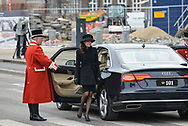 20.02.2018. Copenhagen, Denmark. <br /> Countess Alexandra's arrival to Christiansborg Palace Church. <br /> Photo: Ricardo Ramirez.