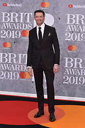 February 20, 2019 - London, United Kingdom of Great Britain and Northern Ireland - Hugh Jackman arriving at The BRIT Awards 2019 at The O2 Arena on February 20, 2019 in London, England  (Credit Image: © Famous/Ace Pictures via ZUMA Press)