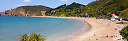 panoramic view of Long Beach at Russell, Bay of Islands