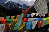 Prayer flags, Meili Snow Mountain, Yunnan province, China