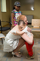 A Radio City Rockette visits kids at a hospital in New Jersey.