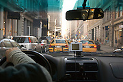 driving through New York city