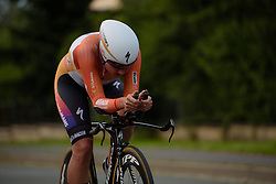 Chantal Blaak (Boels Dolmans) approaches the final 1500 metres at Thüringen Rundfarht 2016 - Stage 4 a 19km time trial starting and finishing in Zeulenroda Triebes, Germany on 18th July 2016.
