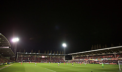 WREXHAM, WALES - Wednesday, March 20, 2019: A general view during an international friendly match between Wales and Trinidad and Tobago at the Racecourse Ground. (Pic by David Rawcliffe/Propaganda)