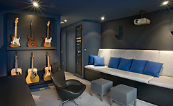 Modern loft condo apartment in Washington DC Media music room