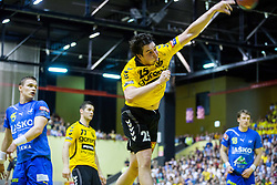 Jernej Papez of Gorenje during handball match between RK Gorenje Velenje and RK Celje Pivovarna Lasko in Final match of 1st NLB League - Slovenian Championship 2013/14 on May 23, 2014 in Rdeca dvorana, Velenje, Slovenia. Photo by Vid Ponikvar / Sportida