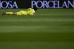April 9, 2018 - Vila-Real, Castellon, Spain - Pablo Fornals of Villarreal CF lays down on the pitch during the La Liga game between Villarreal CF and Athletic Club de Bilbao at Estadio de la Ceramica on April 9, 2018 in Vila-real, Spain  (Credit Image: © David Aliaga/NurPhoto via ZUMA Press)