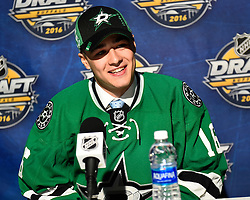 Nicholas Caamano of the Flint Firebirds was selected by the Dallas Stars at the 2016 NHL Draft in Buffalo, NY on Saturday June 25, 2016. Photo by Aaron Bell/CHL Images