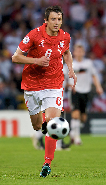 JACEK BAK (POLAND) DURING SOCCER MATCH BETWEEN POLAND AND GERMANY ON WORTHERSEE STADIUM DURING FOOTBALL EUROPEAN CHAMPIONSHIPS EURO 2008 IN KLAGENFURT, AUSTRIA..KLAGENFURT , AUSTRIA , JUNE 8, 2008.( PHOTO BY ADAM NURKIEWICZ / MEDIASPORT )..PICTURE ALSO AVAIBLE IN RAW OR TIFF FORMAT ON SPECIAL REQUEST.