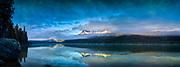 Sunrise at Redfish Lake , Mt. Heyburn and the Grand Mogul