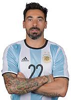 Football Conmebol_Concacaf - <br />Copa America Centenario Usa 2016 - <br />Argentina National Team - Group D -<br />Ezequiel Lavezzi