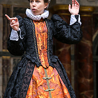 As You Like It by William Shakespeare;<br /> Directed by Blanche McIntyre;<br /> Michelle Terry as Rosalind;<br /> Shakespeare's Globe, London, UK;<br /> 19 May 2015;<br /> © Pete Jones
