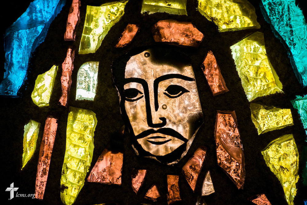 A stained glass depiction of Jesus at Prince of Peace Lutheran Church in Orlando, Fla., on Sunday, Sept. 13, 2015. LCMS Communications/Erik M. Lunsford