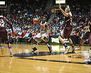 "Ole Miss' Jarvis Summers (32) vs. Mississippi State's Colin Borchert (3) at the C.M. ""Tad"" Smith Coliseum on Wednesday, February 6, 2013. (AP Photo/Oxford Eagle, Bruce Newman).."