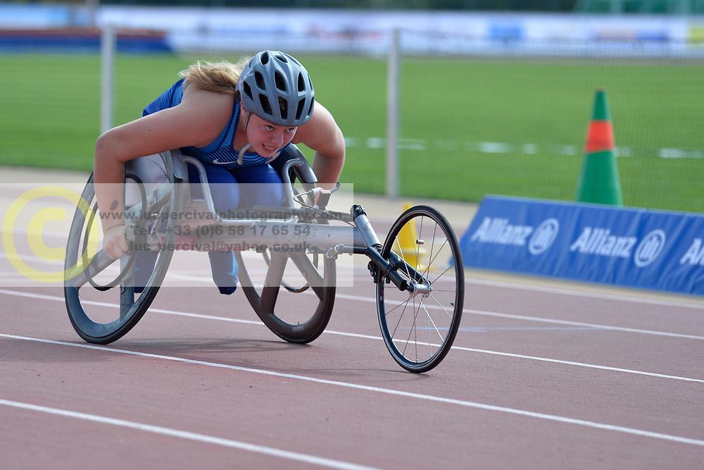 05/08/2017; Munter, Sophie, T34, USA at 2017 World Para Athletics Junior Championships, Nottwil, Switzerland