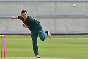 Liam Patterson-White during the friendly match between Nottinghamshire County Cricket Club and Northamptonshire County Cricket Club at Grantham CC, Grantham, United Kingdom on 5 July 2017. Photo by Simon Trafford.