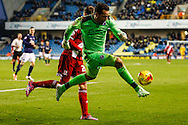 David Forde of Millwall clears the ball while outside of his penalty box during the Sky Bet Championship match at The Den, London<br /> Picture by David Horn/Focus Images Ltd +44 7545 970036<br /> 06/12/2014
