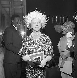 The COUNTESS OF ROSSE at a lunch in London on 12th May 1961.