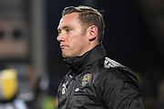 Notts County manager Kevin Nolan during the The FA Cup match between Notts County and Bristol Rovers at Meadow Lane, Nottingham, England on 3 November 2017. Photo by Jon Hobley.
