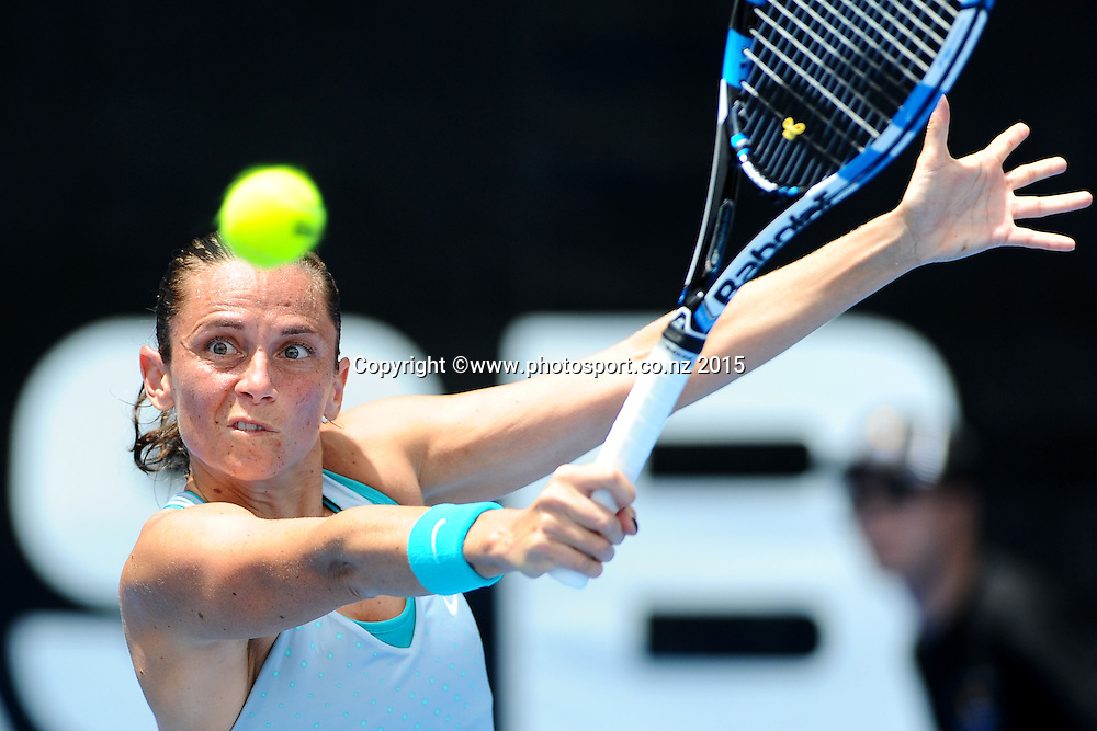Roberta Vinci of Italy during Day 2 of the ASB Classic Women's International. ASB Tennis Centre, Auckland, New Zealand. Tuesday 6 January 2015. Copyright photo: Chris Symes/www.photosport.co.nz