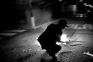 Street scene in Belen, a red-zone sector in Venezuela heavily controlled by Colombian narco-traffickers.
