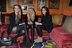 Left to right, SOFIA WELLESLEY, ASTRID HARBORD and VIOLET VON WESTENHOLZ at the Johnnie Walker Blue Label and David Gandy partnership launch party held at Annabel's, 44 Berkeley Square, London on 5th February 2013.