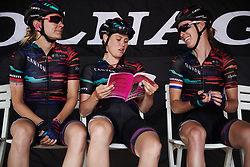Tiffany Cromwell (AUS) checks out the road book before Stage 9 of 2019 Giro Rosa Iccrea, a 125.5 km road race from Gemona to Chiusaforte, Italy on July 13, 2019. Photo by Sean Robinson/velofocus.com