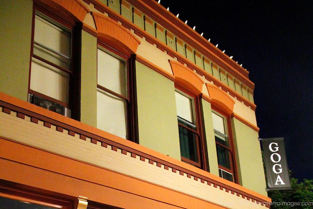 USA, California, San Diego. Goga on Market Street, historical building.