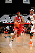 January 5, 2012: Krystal Barrett #12 of North Carolina State in action during the NCAA basketball game between the Miami Hurricanes and the North Carolina State Wolfpack at the BankUnited Center in Coral Gables, FL. The Hurricanes defeated the Wolfpack 78-68.