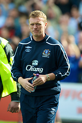STOKE, ENGLAND - Sunday, September 14, 2008: Everton's manager David Moyes before the Premiership match against Stoke City at the Britannia Stadium. (Photo by David Rawcliffe/Propaganda)