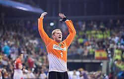 Berlin, Deutschland, 17.05.2015:<br />Handball EHF Pokal Finale 2014 / 2015 - Fuechse Berlin - HSV Hamburg - EHF CUP Finals 2014/15.<br /><br />Torwart Johannes Bitter (HSV #1) *** Local Caption *** © pixathlon