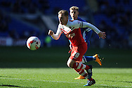 Chris Solly of Charlton Athletic in action. Skybet football league championship match, Cardiff city v Charlton Athletic at the Cardiff city Stadium in Cardiff, South Wales on Saturday 7th March 2015.<br /> pic by Andrew Orchard, Andrew Orchard sports photography.