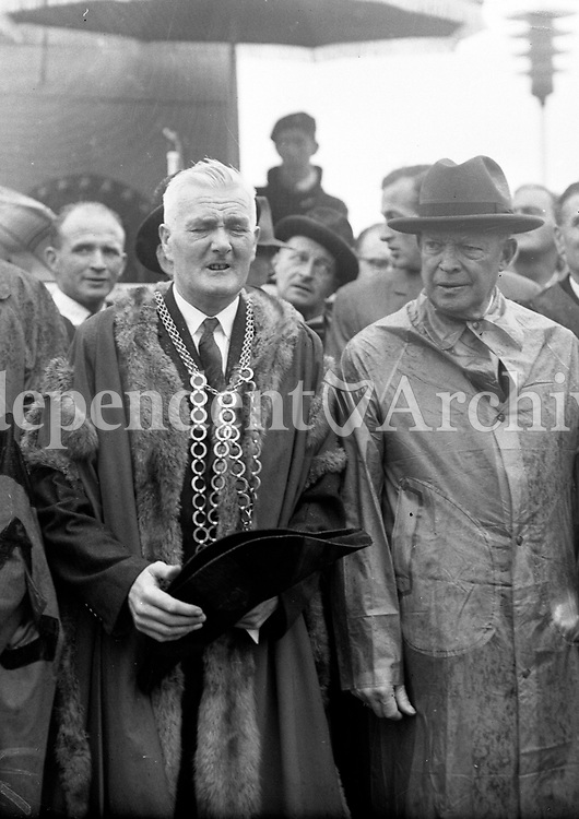 Mr P Kinsella also Mayor of Wexford J Cullimore &amp; Mayor of Waterford J Griffin, 23/08/1962.<br />  R3322  <br /> (Part of the Independent Newspapers Ireland/NLI Collection).
