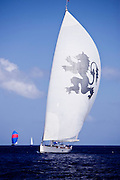 Salperton sailing in the St. Barth's Bucket Regatta, day three.