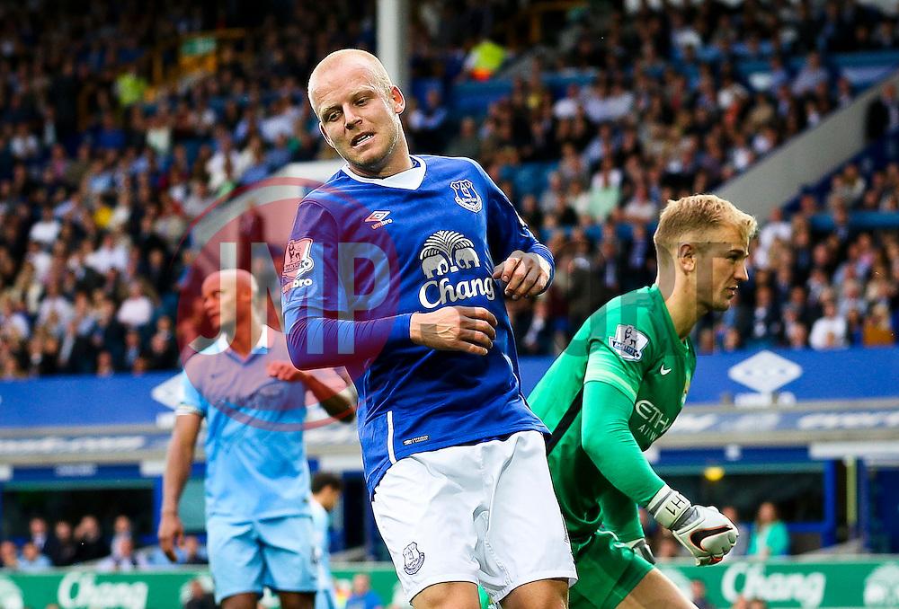 Everton's Steven Naismith reacts after missing a chance - Mandatory byline: Matt McNulty/JMP - 07966386802 - 23/08/2015 - FOOTBALL - Goodison Park -Everton,England - Everton v Manchester City - Barclays Premier League