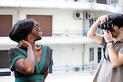 Cannes, France. May 13th 2010..French actress Aissa Maiga at the Martinez Hotel