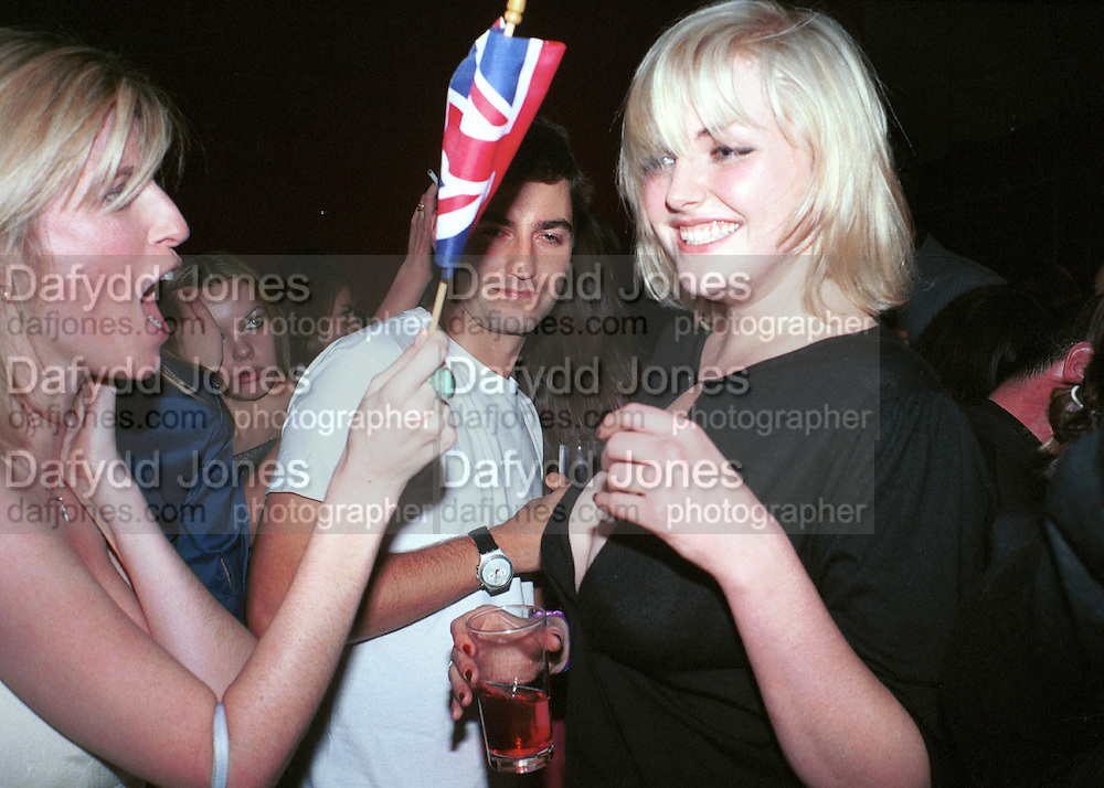 Lucy Sykes and Sophie Dahl. Plum &amp; Lucy Sykes 30th birthday. Lot 61,  550 West 21 St. NY.   4/12/99<br />&copy; Copyright Photograph by Dafydd Jones 66 Stockwell Park Rd. London SW9 0DA Tel 020 7733 0108 www.dafjones.com