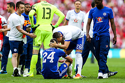 Retiring John Terry of Chelsea consoles Gary Cahill after Arsenal win the match 2-0 to become FA Cup Winners - Rogan Thomson/JMP - 27/05/2017 - FOOTBALL - Wembley Stadium - London, England - Arsenal v Chelsea - FA Cup Final.