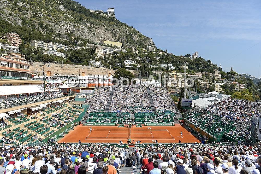 &copy; Filippo Alfero<br /> Monte-Carlo Tennis Masters 2014<br /> Monaco, 15/04/2014<br /> sport tennis<br /> Nella foto: vista generale del campo centrale