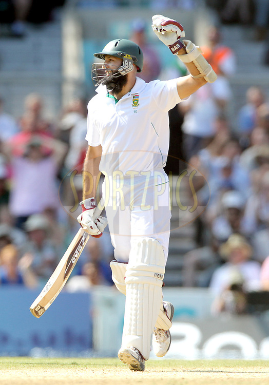 © Andrew Fosker / Seconds Left Images 2012 - South Africa's Hashim Amla celebrates his triple  century, 3, hundred, 100, 300  England v South Africa - 1st Investec Test Match -  Day  4 - The Oval  - London - 22/07/2012