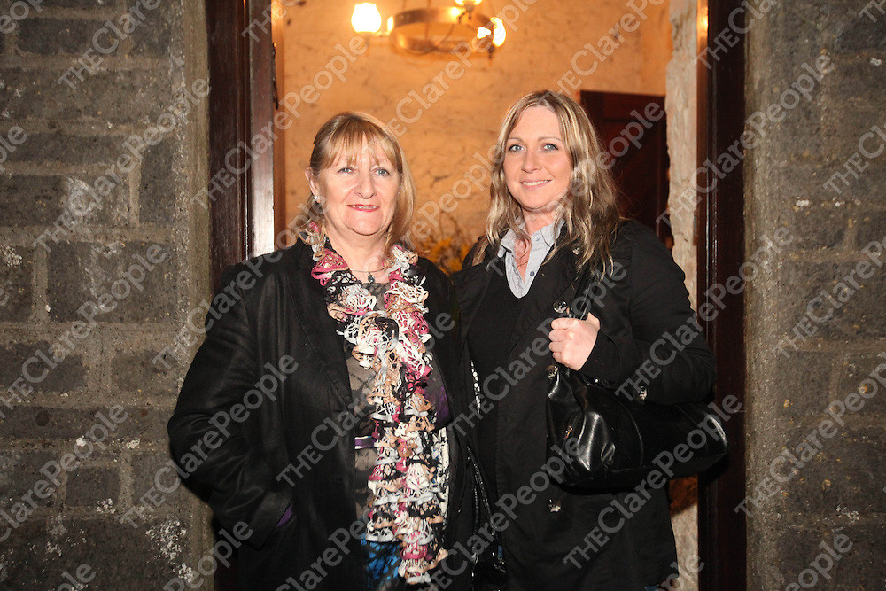 Mary and Maura Earls pictured at Libertys Ladder in  Kilnasoolagh Church on Sunday.<br /> Pic. Brian Arthur/ Press 22.