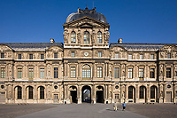 coour carrée of  le louvre in the beautiful city of paris france