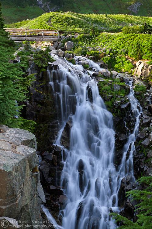 Myrtle Falls on Edith Creek in Mount Rainier National Park, Washington State, USA.