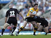 20040904 London Wasps v Saracens. Zurich Premiership..Tom Voyce's run is stopped..Photo  Peter Spurrier.email images@intersport-images Mob +447973819551.