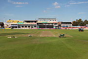 General view of the ground before the Vitality T20 Blast North Group match between Leicestershire Foxes and Notts Outlaws at the Fischer County Ground, Grace Road, Leicester, United Kingdom on 23 August 2019.