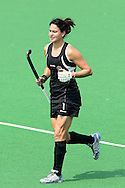 Kayla Sharland during the pool B women's hockey match of the The Commonwealth Games between New Zealand and Wales held at the Stadium in New Delhi, India on the  October 2010..Photo by:  Ron Gaunt/SPORTZPICS/PHOTOSPORT