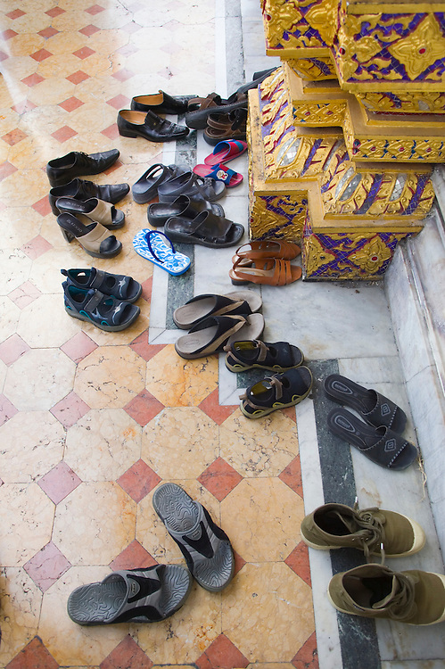 Shoes at Wat Benchamabophit Temple Thailand&amp;#xA;<br />