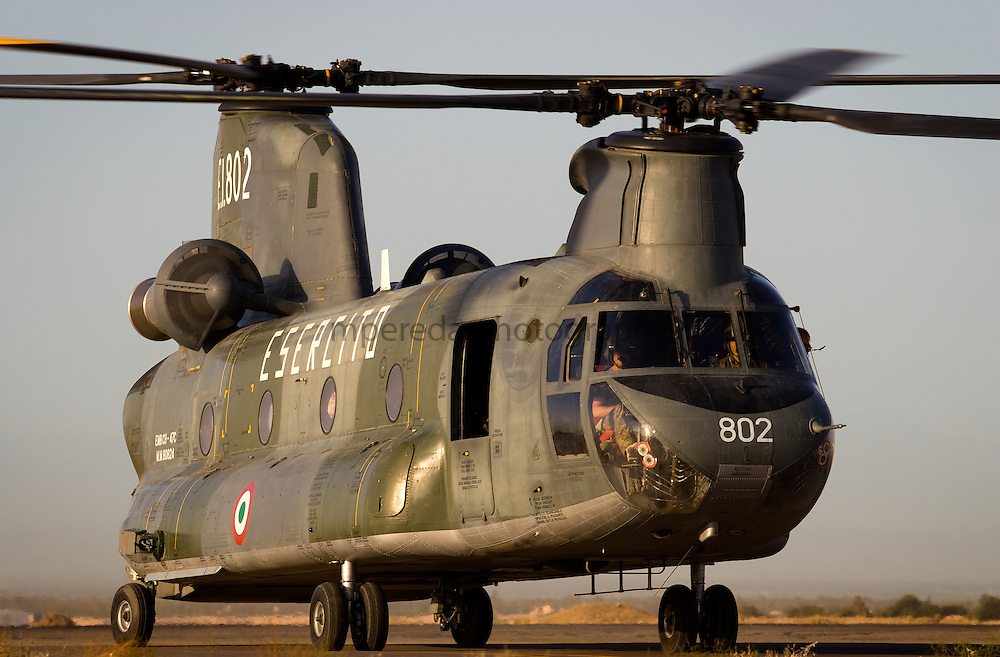 Italian Ch 47 Chinook operating in Afghanistan