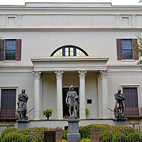 Telfair Art Museum in Savannah, Georgia<br /> Edward Telfair emigrated from Scotland in 1758 to Virginia before settling in the Province of Georgia. He and his brother William became wealthy operating a plantation and mercantile company. His grandson, Alexander Telfair, asked architect William Jay to build this magnificent mansion. It was finished in 1819. Before the last of his daughters died in 1874, Mary Telfair willed the family home to the Georgia Historical Society with the stipulation it become the Telfair Academy of Arts & Sciences. The former Telfair Academy is now an art museum, the oldest in the Southern United States.